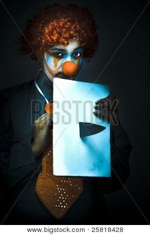 Disturbed Clown With Knife