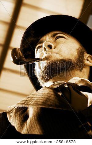 Man Smokin Pipe