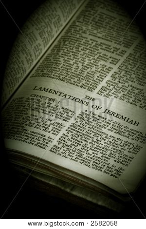 Bible Series Lamentations Of Jeremiah In Vignette