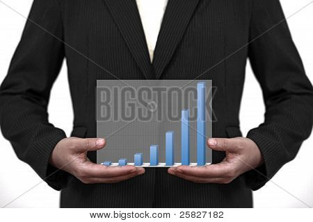 Up Trend Business Sale Graph On Hand