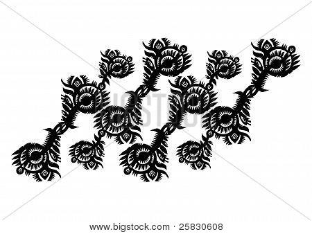 Decorative Strip Of Vegetation Patterns