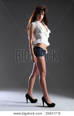 Tall Long Legged Beautiful Mixed Race Model Girl