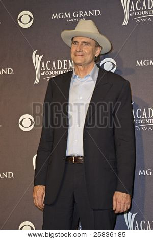 LAS VEGAS - APRIL 3 - James Taylor in the press room at the 46th Annual Academy of Country Music Awards in Las Vegas, Nevada on April 3, 2011.