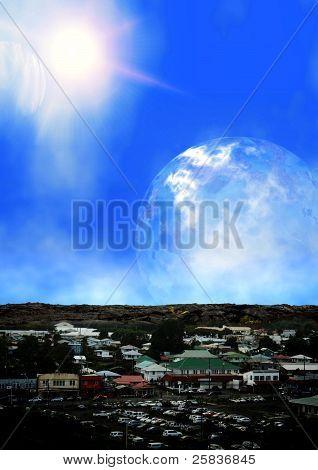 Planeta alienígena, área comercial