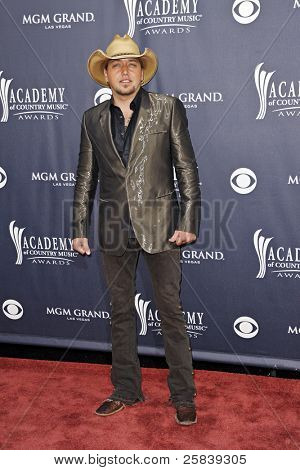 LAS VEGAS - APRIL 3 - Jason Aldean attends the 46th Annual Academy of Country Music Awards in Las Vegas, Nevada on April 3, 2011.