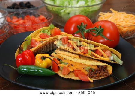 Tacos With Ingredients