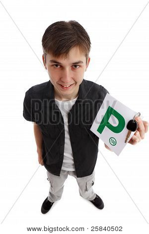 Teenager With Green P Licence Plates