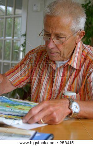 die Arbeit an seiner Malerei