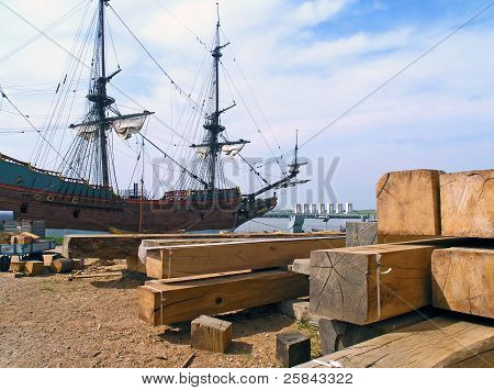 Shipyard for historic sailboats