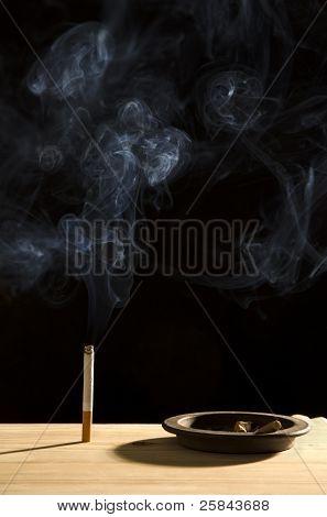 Smoke and cigarette