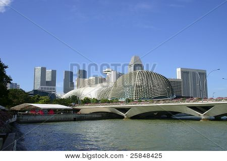 The Esplanade Is Located At Waterfront, Marina Bay, Mouth Of Singapore River.