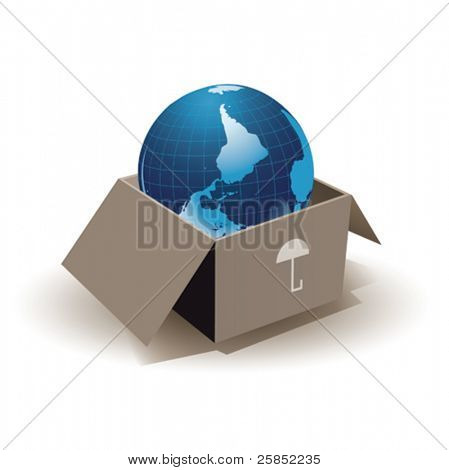 Earth in box