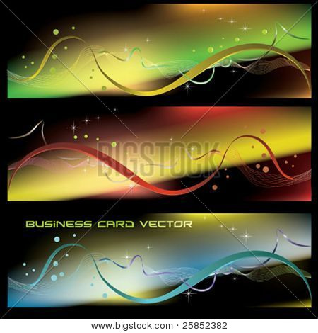Vector Abstract Glass Business Banner
