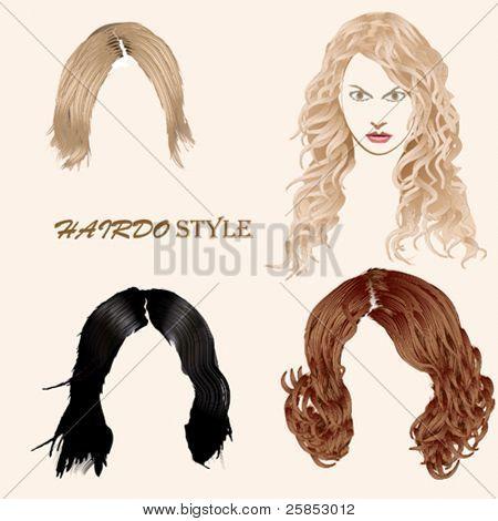 Estilo de penteado de vetor
