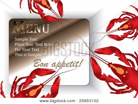 Template designs of menu and business card for restaurant or coffee house