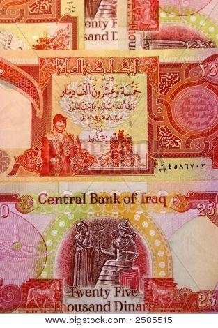 Iraqi Dinars Background