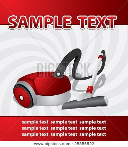 vacuum cleaner. Vector template