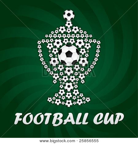 Football cup from balls