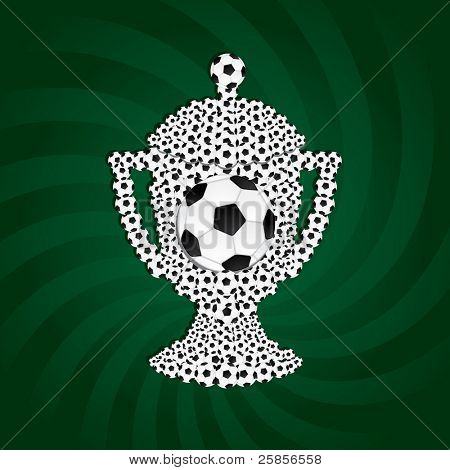 Football cup from balls. Vector illustration