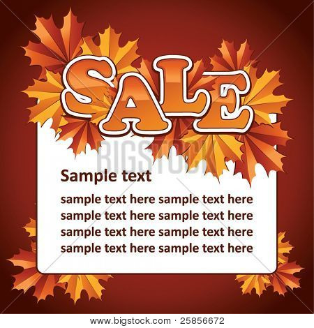 Autumn sale. Vector template