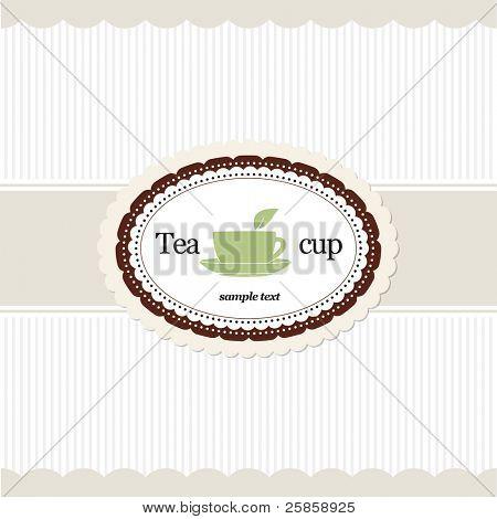 Tea time. Restaurant menu design