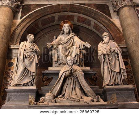 Jesus, Paul, Peter and Pope