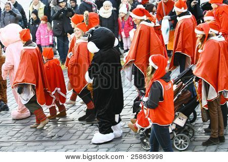 Traditional Christmas Street Opening In Helsinki