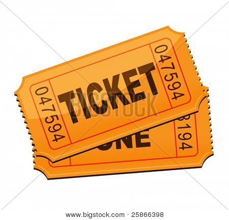vector illustration of ticket