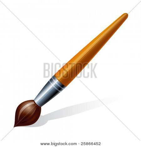 vector illustration of brush