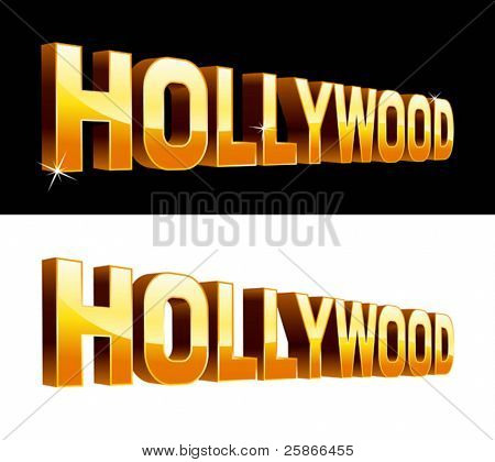 vector illustration of Hollywood