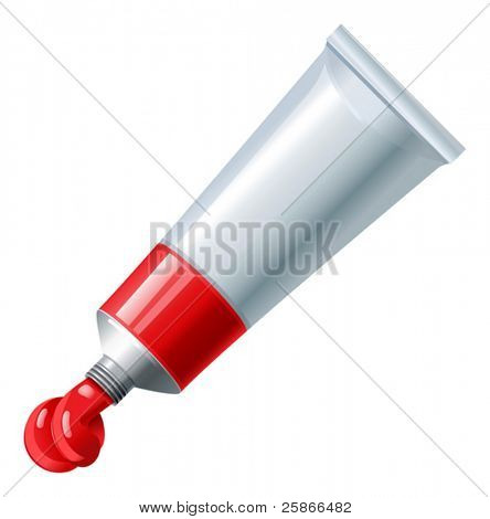 vector illustration of paint tube
