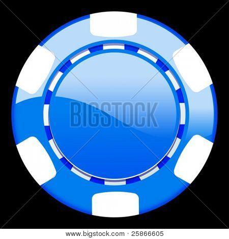 vector illustration of casino chip