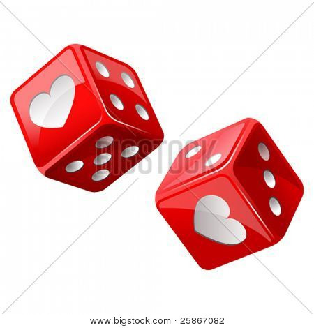 vector illustration of red dice