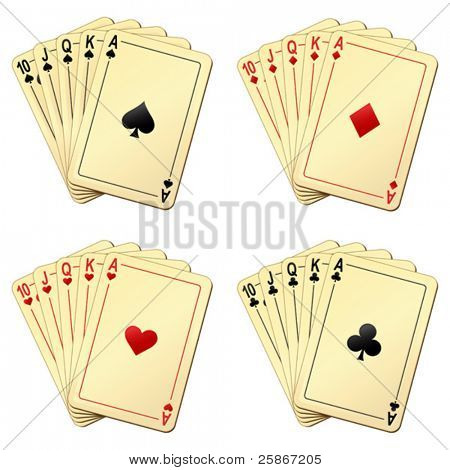 vector illustration of playing cards
