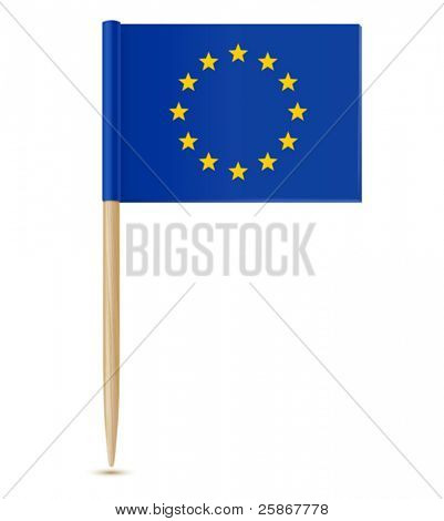 Official flag of european union toothpick