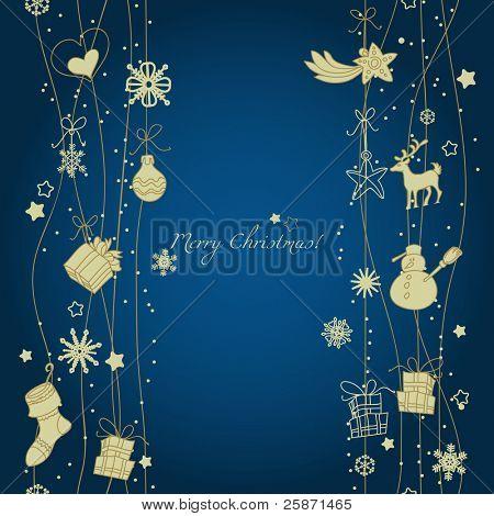 Christmas decoration seamless pattern