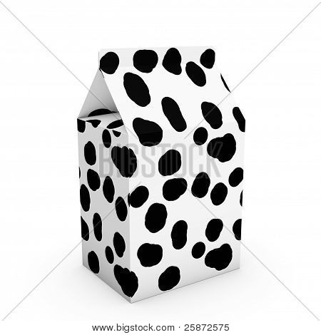 Cow Texture Milk Box