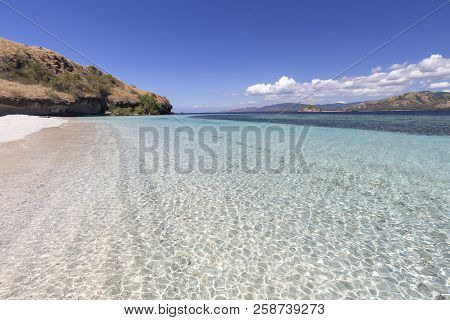 Clear Water On A Beach