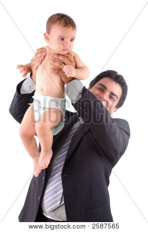 Man Hold A Child