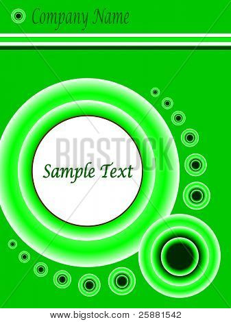 A green and white abstract vector business presentation  background template illustration with room for text