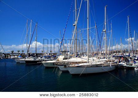 A yacht marina in Peurto Mogan, Gran Canaria
