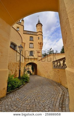 Inside the Hohenschwangau castle in Bavaria, Germany