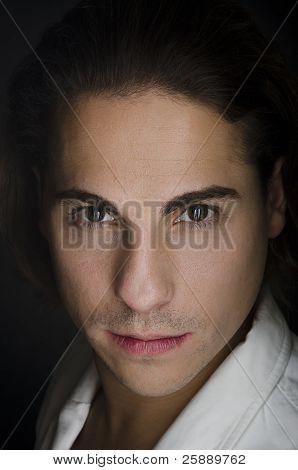 Casual Man Portrait - serious