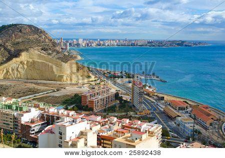 Alicante beach line, Spain