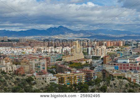 Cityscape of Alicante, Comunidad Valenciana, Spain.