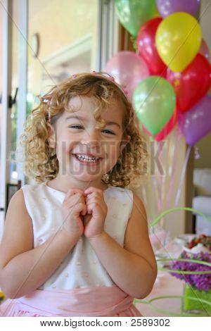 Four Year Old Birthday Girl