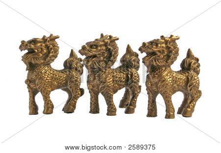 Caballo mítico dragón chino