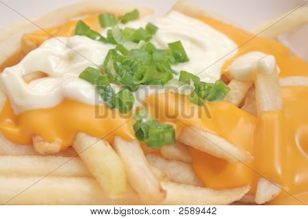 French Fries With Melted Cheese Sauce