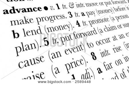 Advance Word Dictionary Term