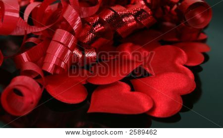 Satin Hearts And Ribbons